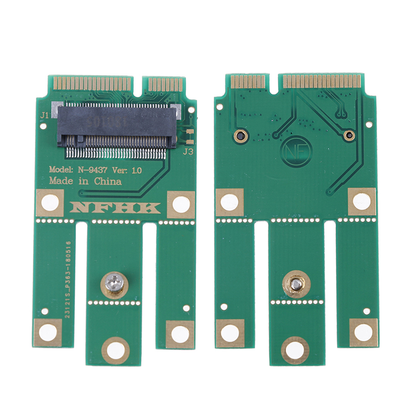 A+E Key A Key M.2 NGFF Wireless Module To MINI PCIE Adapter For Wifi Bluetooth Wireless Card