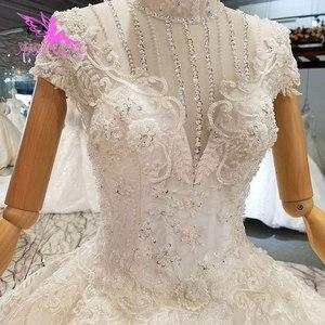 Image 3 - AIJINGYU deuxième mariage robes de mariée robes de Satin plissé balle en ligne mariée à être robe de mariée couleur de la robe
