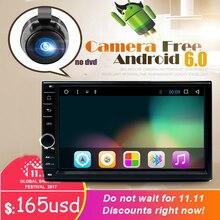 "7 ""2Din 1024*600 Android 6.0 Auto Tap PC Tablet 2 din Universal für Toota GPS Navigation BT Radio Stereo Audio Player (Keine DVD)"