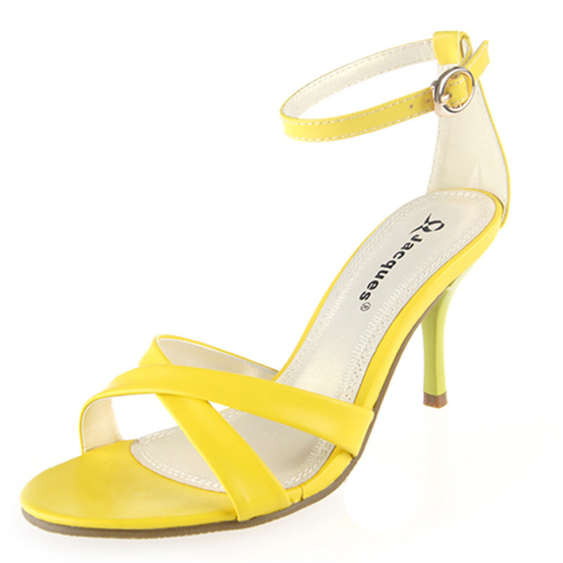 ФОТО Female summer sandals high thin heels small 31 32 33 plus size 40 41 42 43 free shipping