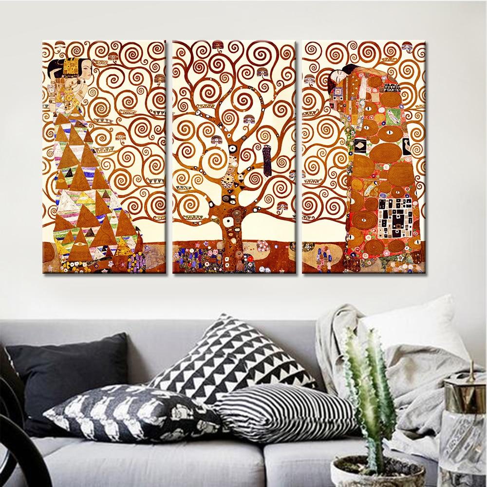 3 teile/satz Keine Eingerahmt Baum Liebhaber Malerei Moderne Wand ...