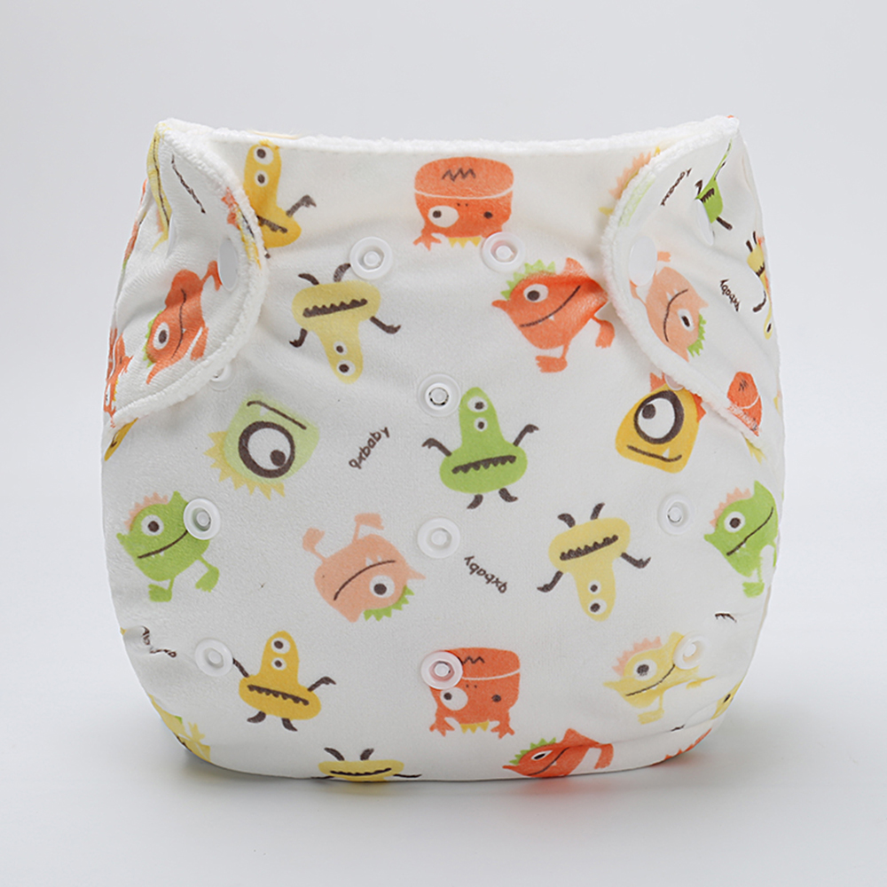 Baby Pocket Cloth Diaper Cover Washable Cartoon Animal Soft Breathable Baby Diapers Reusable Cloth Nappy Suit 0-2Y