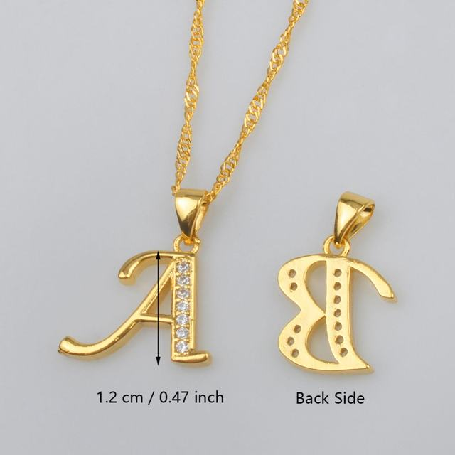 Online shop anniyo small letters necklace gold color initial pendant anniyo small letters necklace gold color initial pendant chain 45cm60cm womencubic zirconia english letter jewelry 040602 aloadofball Choice Image