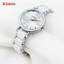 KIMIO Ladies Imitation Ceramic Resin Bracelet Roman Quartz Watch Womens Watches Top Brand Fashion Luxury Wrstwatch montre femme