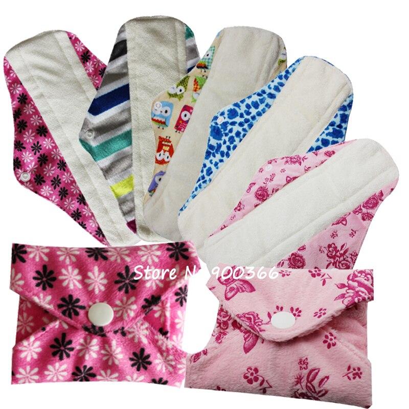 2e08b7268f0e Новый Дизайн Minky женственный Pad моющийся многоразовые тканевые  гигиенические менструального pad бамбук Мама Ткань