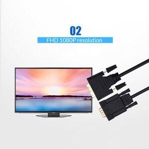 Image 5 - Unnlink активный адаптер DVI VGA FHD 1080P @ 60 DVI D 24 + 1 К VGA Цифровой адаптер конвертер кабель для ноутбука хоста графической карты