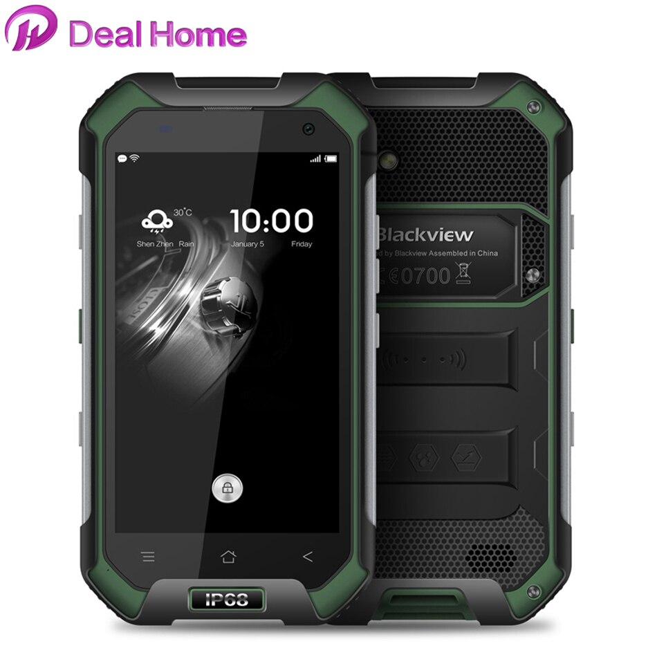 En stock Blackview BV6000 téléphone portable 4G LTE MTK6755 Octa Core 2.0 GHz 4.7