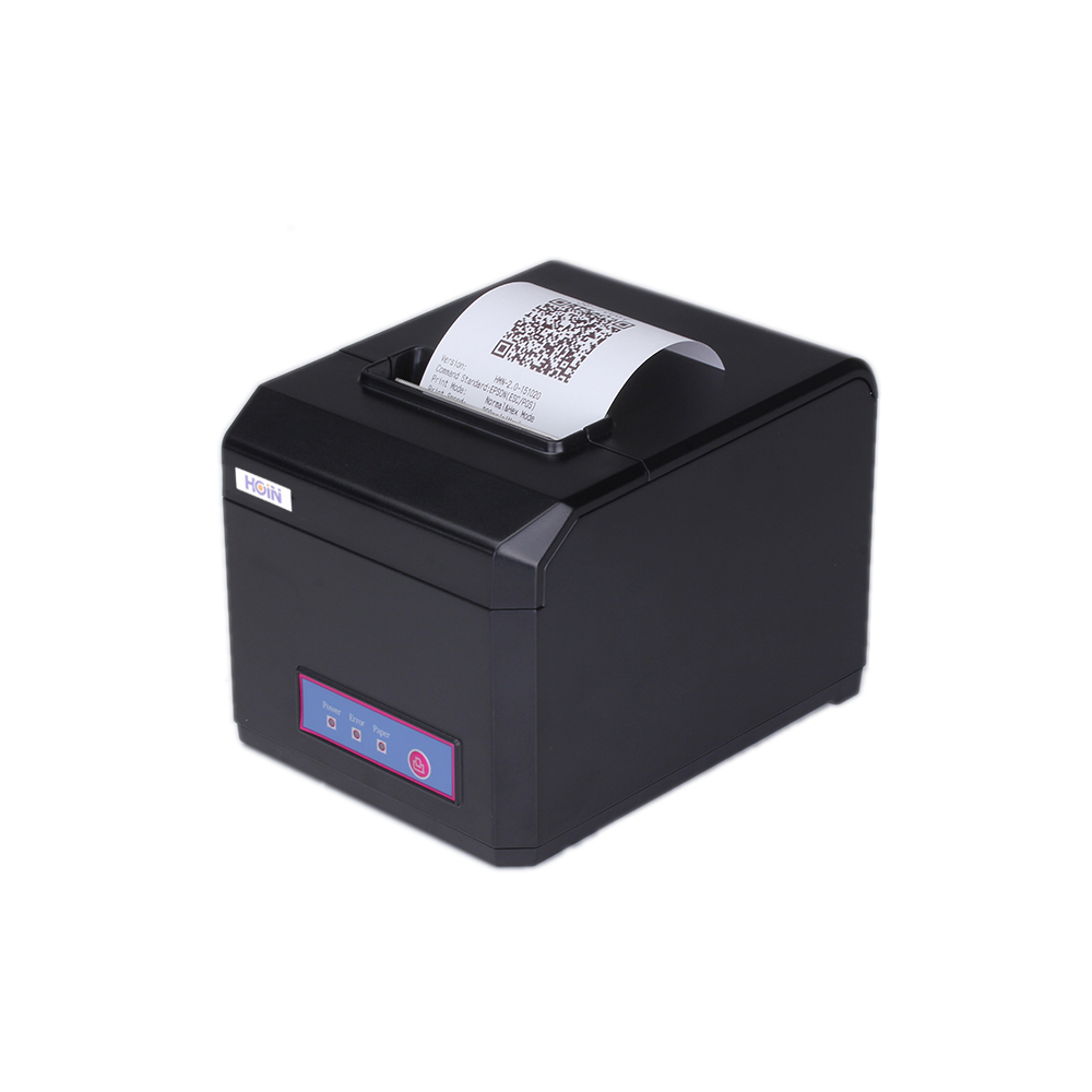 HOP-E801 80MM Thermal Printer Receipt Machine Printing Support USB+WIFI Connection Bar code label printers for store payment lcod t58zu pos58zu thermal receipt printer bill printing machine black