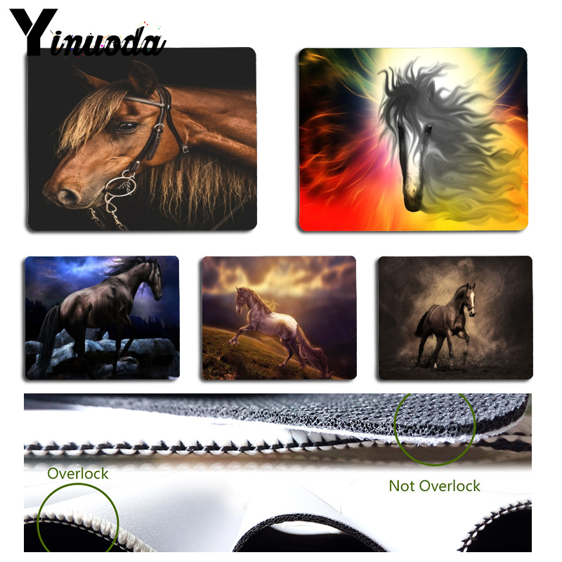 Yinuoda Custom Skin Brown Horse Comfort Mouse Mat Gaming Mousepad Size for 18x22cm 25x29cm Rubber Mousemats