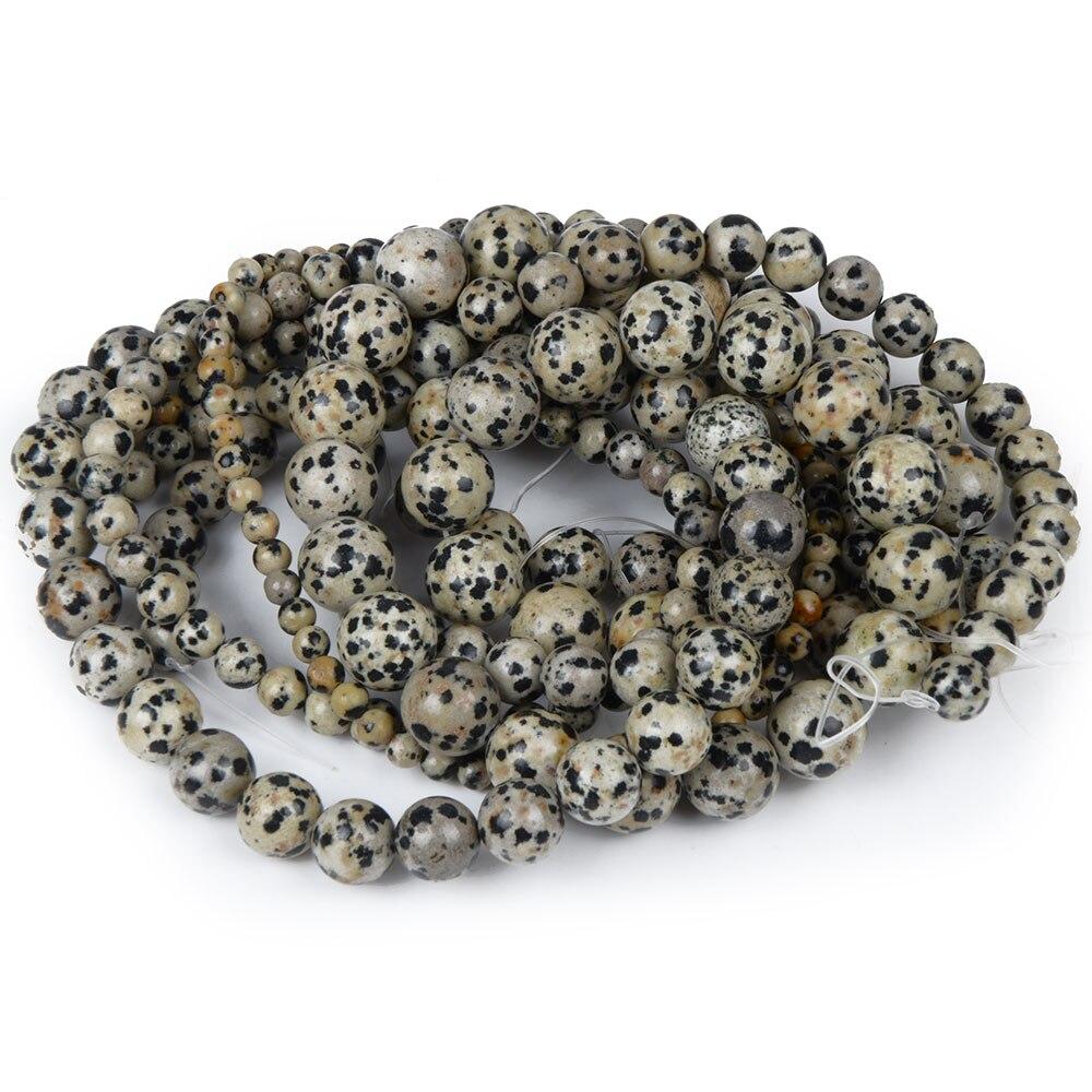Spot Balmatine Stone Women Jewelry Fashion Making Loose Beads 4 6 8 10 12mm