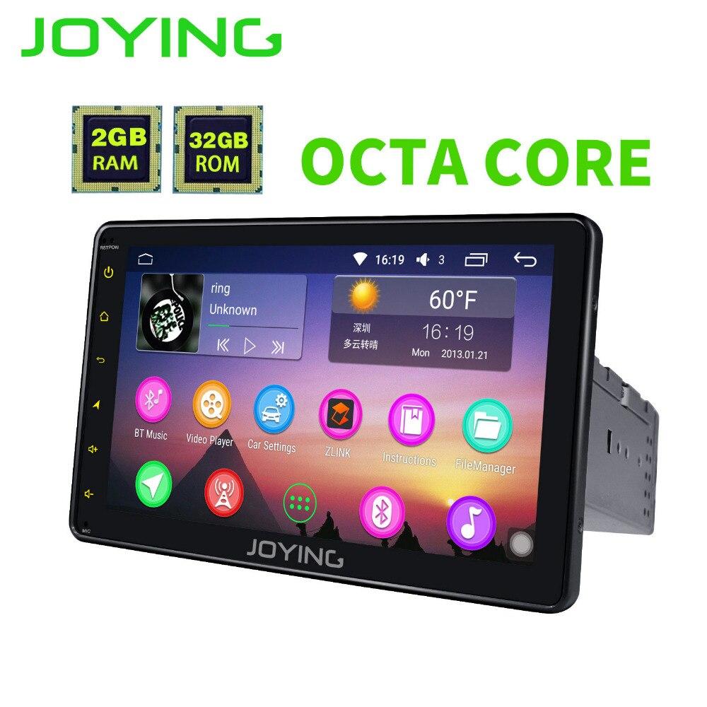 JOYING Últimas 1 8 ''polegada Único din tela Sensível Ao Toque Universal player de rádio Android 6.0 carro de áudio estéreo do carro HD SWC GPS de Navegação