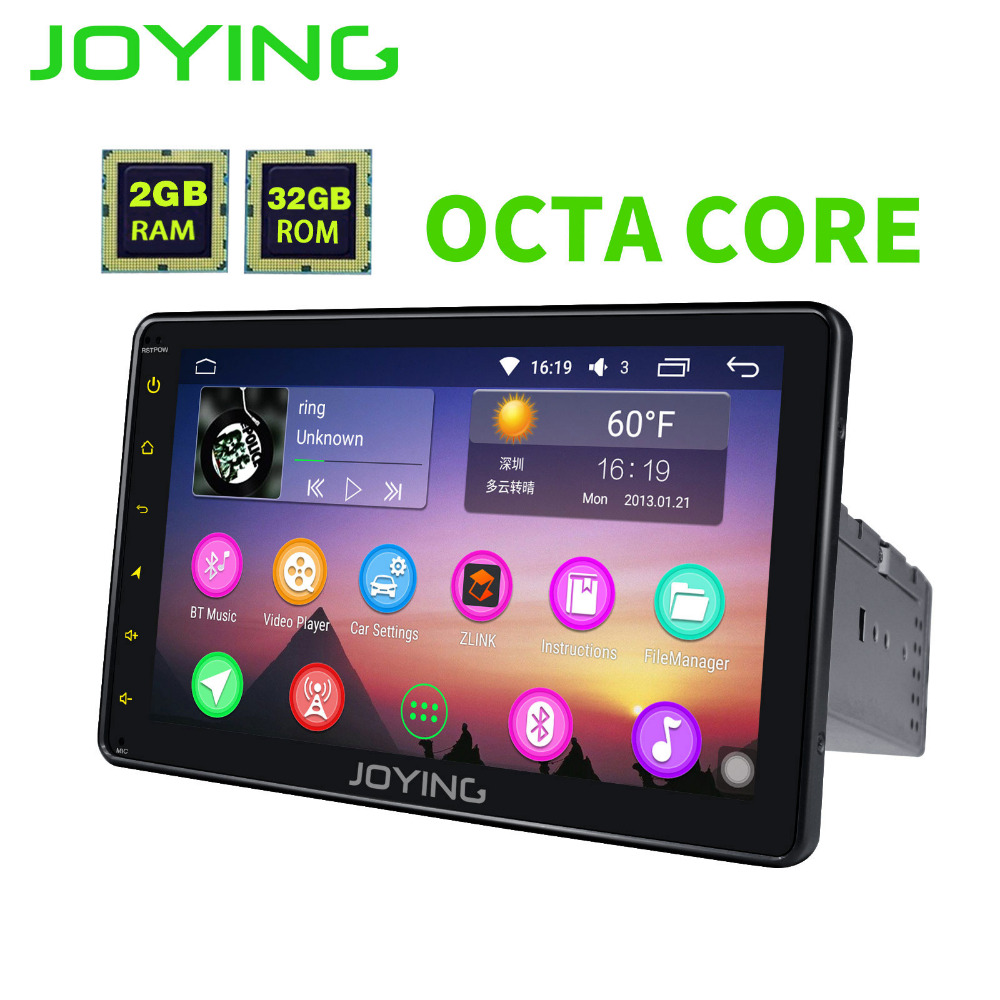 JOYING últimos 8 pulgadas'' solo 1 din Universal pantalla táctil reproductor de radio de coche Android 6,0 car audio estéreo HD SWC navegación GPS