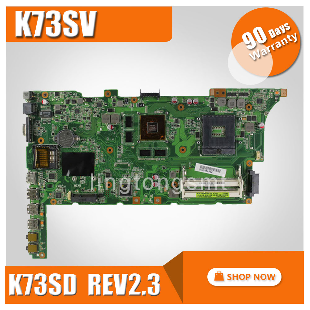 original K73SV for ASUS laptop motherboard K73SD REV2.3 mainboard HM65 PGA 989 Geforce GT540 1G tested Ok laptop keyboard for asus p756 p756u p756ua p756ux sv slovenian wb black