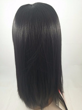 Silky Straight Brazilian Virgin Human Glueless Full Lace Wig Natural Color 130% Swiss Lace 100%Human Hair Wig