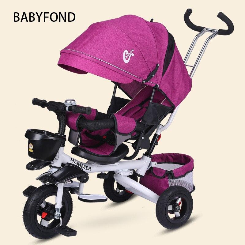 Детский трехколесный велосипед, детское сиденье для велосипеда, рулевое сидение, складной амортизатор