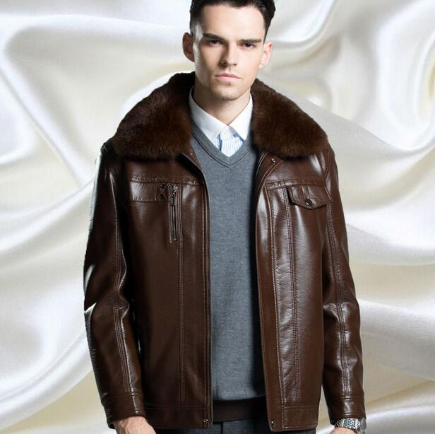 High quality mens leather jackets coats men's casual leather jacket New arrive Brand motorcycle leather jacket men Outerwear
