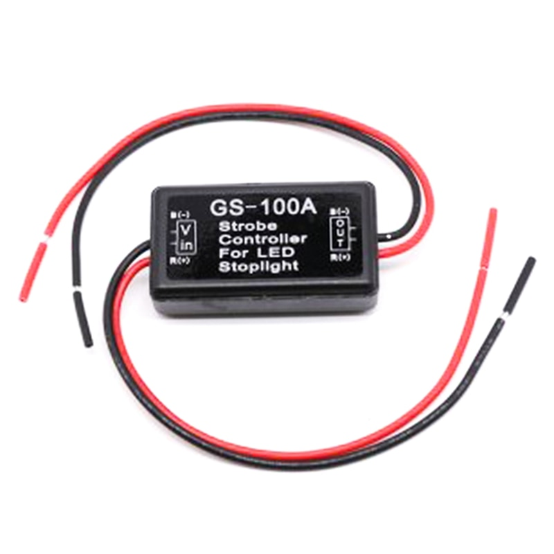 GS-100A HUIQIAODS Flash Strobe Controller for LED Brake Light Tail Stop Light Auto Car 12-24V LED Brake Flasher Stop Light Strobe Flasher