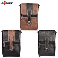 Effelon Universal 6.4PU Leather Phone Bag Shoulder Pocket Wallet Pouch Case Neck Strap For iPhone 7 6splus Samsung S8 S9 Xiaomi