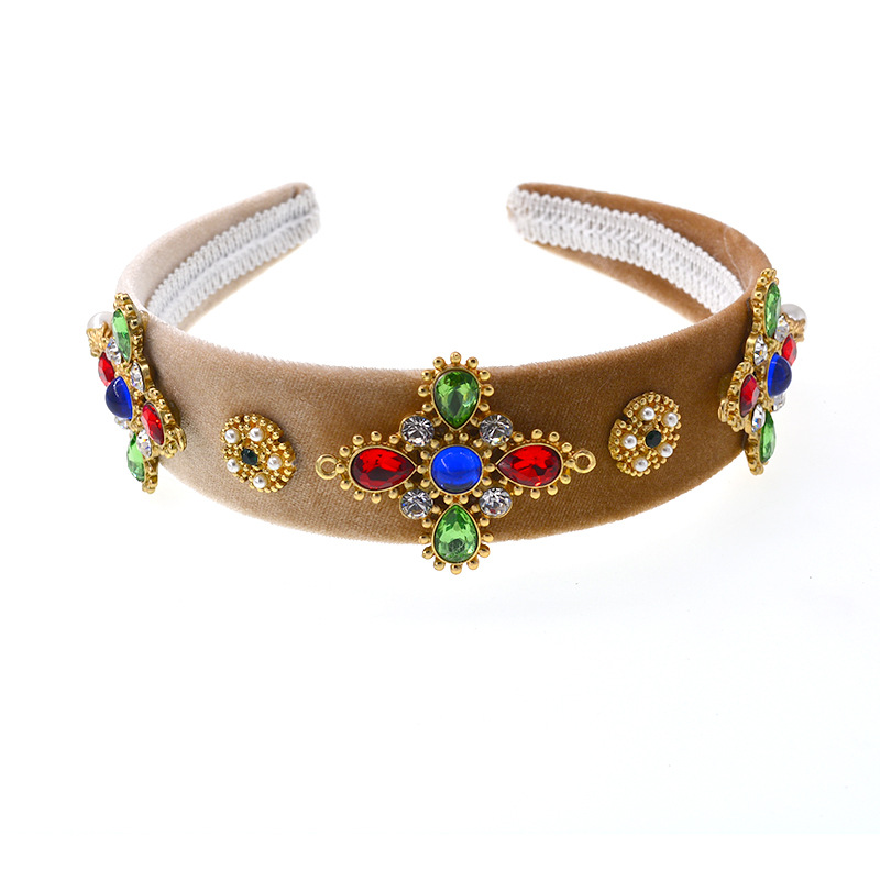 2019 New Fashion Hairband Headband Jewelled Head Band Gem Jewel Ladies Women Diamond Crown Baroque Festival Hair Accessories in Women 39 s Hair Accessories from Apparel Accessories