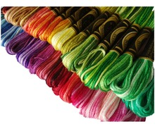 Free shipping Embroidery thread in size 25 variegated colorful from China
