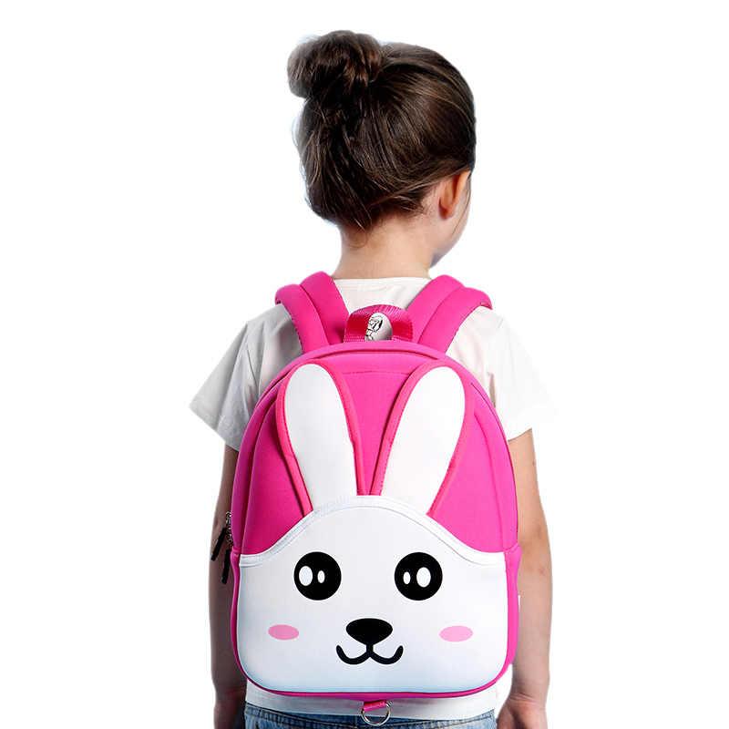 c7211e3fe5fb Fashion School Bags for Baby Girls Cute Pink Rabbit Backpacks Children  School Backpack Kids Bag Mochila