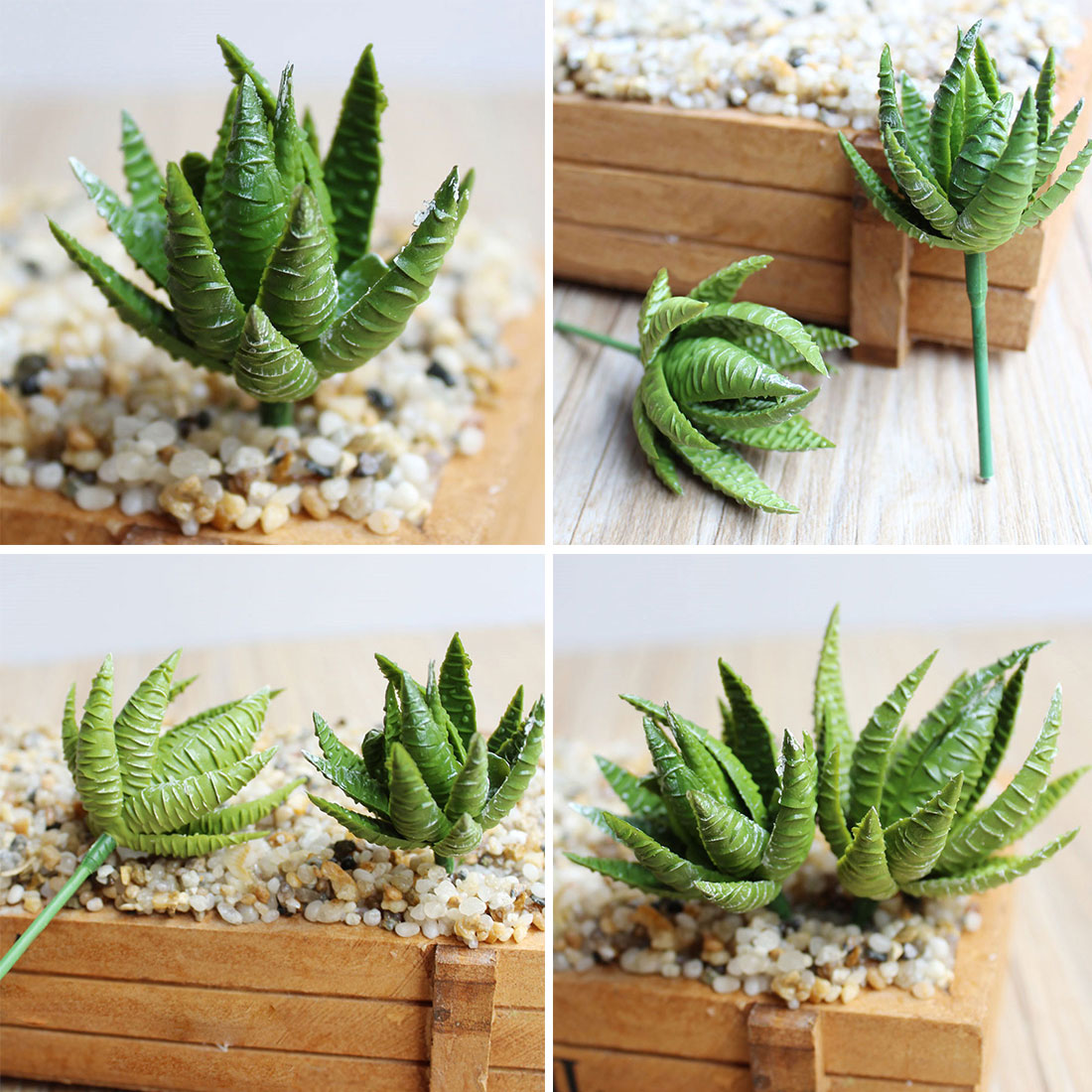 Flores artificiales para decoracion hogar 2PCS Artificial Succulents Plants Aloe Zebrina Plants Landscape Fake Flower