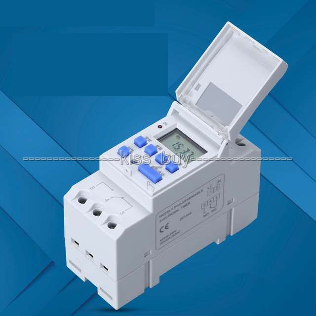 TTHC15A AC 220V 16A Microcomputer Weekly Programmable Digital LCD TIMER SWITCH Time Relay Control  Din Rail CLOCK