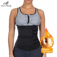 Shapers Girdles Sweat Waist-Trainer Faja Double-Modeling-Belt Sauna-Body Fitness Slimming