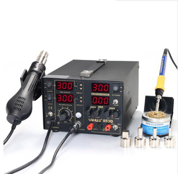 YH-853D 5A Multifunction SMD/SMT 3 IN 1 Soldering Station+Hot Air Gun Station And DC Power Supply Electric Soldering Irons