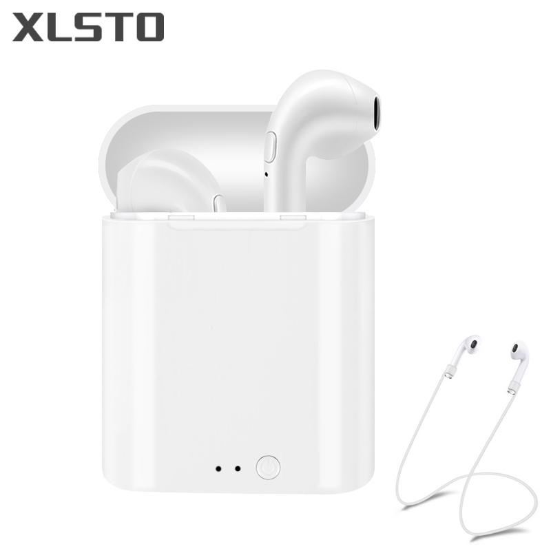 XLSTO 2018 New i7S TWS mini Bluetooth Headsets Earbuds True Stereo Wireless Earphone Earpiece for apple iphone Android PK ifans