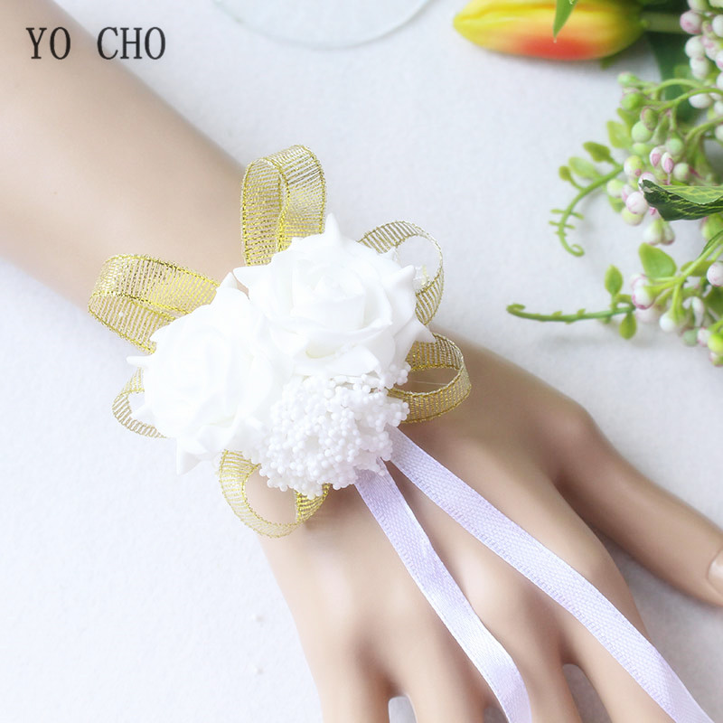 wrist corsage bracelet band bridesmaids flowers (103)