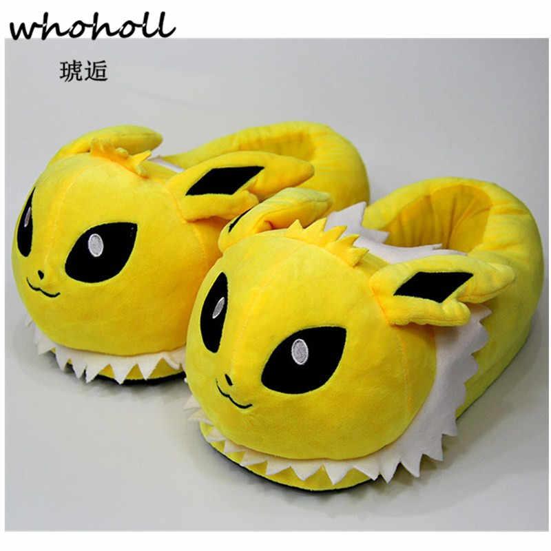 Vrouwen Anime Cartoon Pokemon Slippers Liefhebbers Warme Vrouw Slippers Elf Bal Pikachu Go Pluche Schoenen Thuis Huis Slippers Kinderen