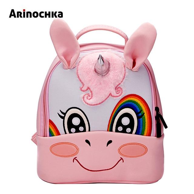 Детские рюкзаки с единорогом для детского сада, рюкзак с изображением животных для маленьких мальчиков, рюкзак для девочек с милым жирафом, школьный рюкзак с рисунком для детей, Mochila