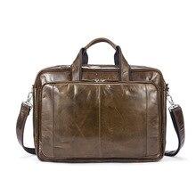 Luxury brand soft surface coffee Calfskin designer handbags high quality retro solid color men laptop briefcases