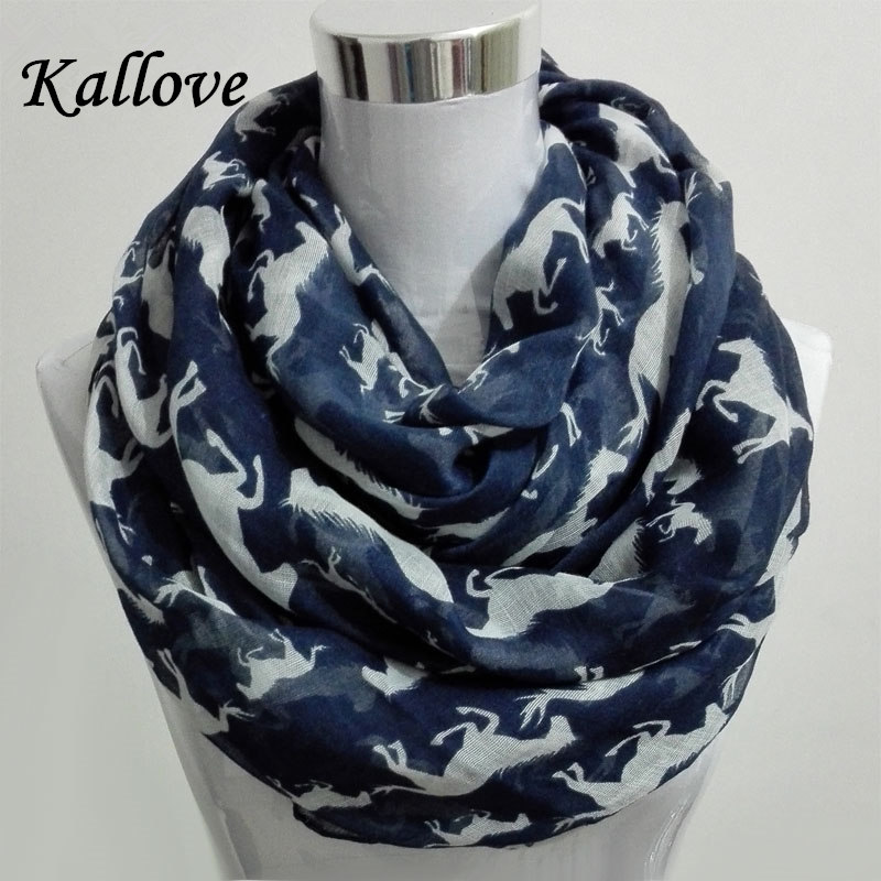 10pcs lot New Women Ladies Viscose Cotton big small Horse Print scarf horse infinity Animal horse