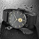 2019 Mens Stainless Steel mesh band Minimalist Ultra-Thin Quartz Analog Wrist Watch Waterproof 2019 relogio masculino watches Q