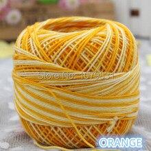 Пестрый цвет пряжа для вязания кружева толстая пряжа для вязания 50 г/roll, 4 рулона/много, Доступно 4 цвета