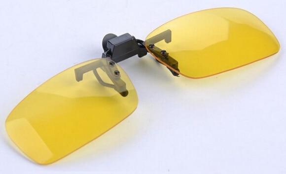 Клипсы на солнцезащитных очках линзы поляризованные дневное видение флип клип на очки с желтыми стеклами для ночного вождения очки 5 шт./партия - Цвет линз: yellow