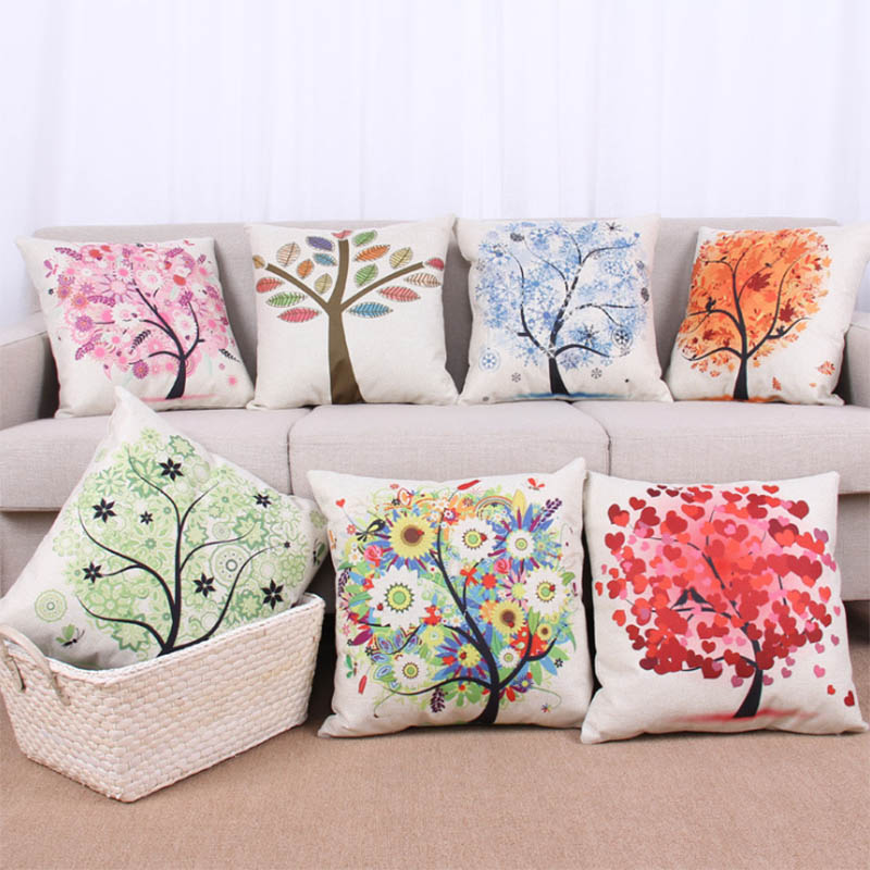 pastoral style fashion design cushion cover 19 colors home decor throw pillow covers square 45x45cm sofa