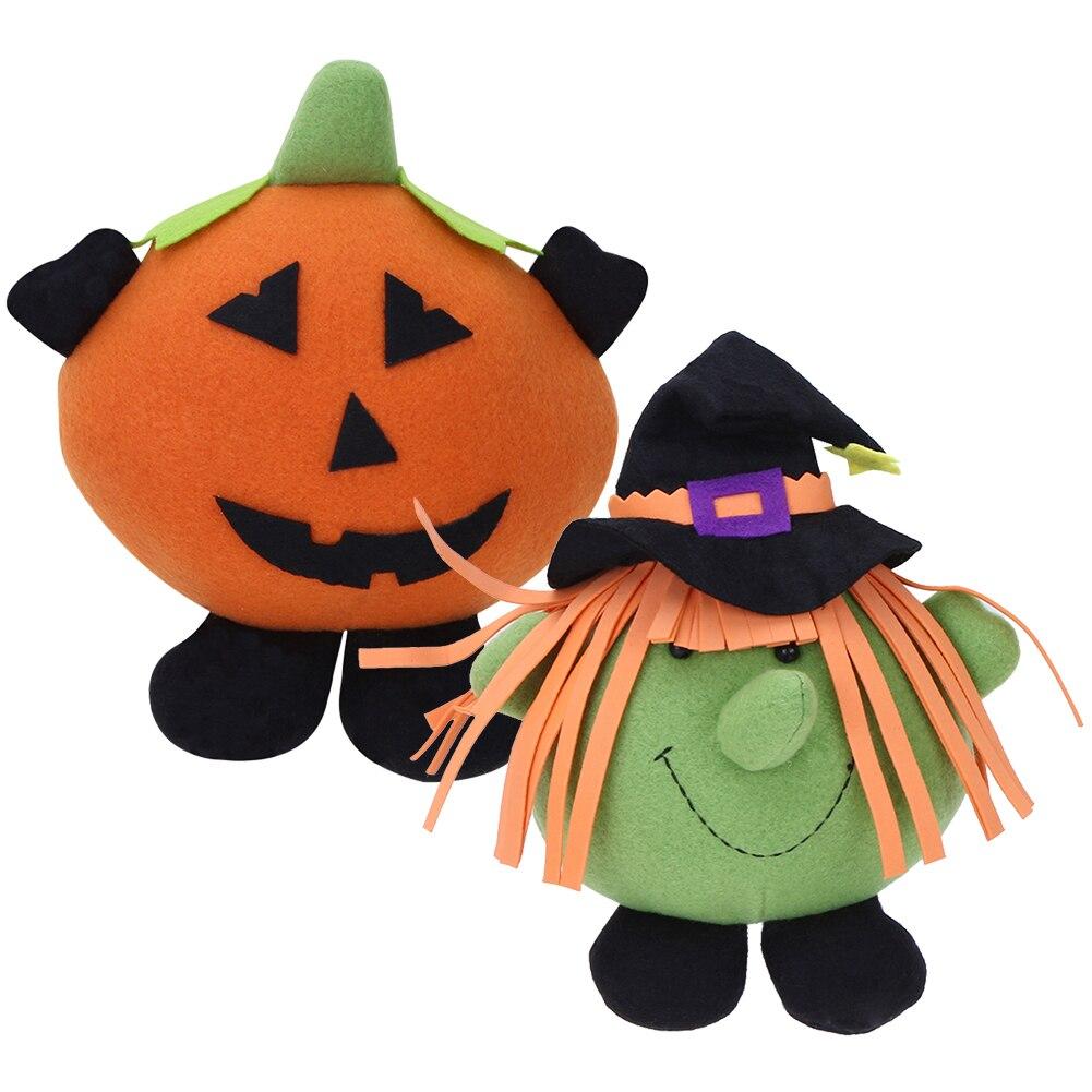 Halloween Pumpkin Witch Dolls Girls Plush Toy Childrens Birthday Gift Halloween Party Decoration Props