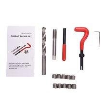 15 pz Kit di Riparazione Filo M12x1.25/M12x1.5/M12x1.75/Auto Officina Garage Tool Set