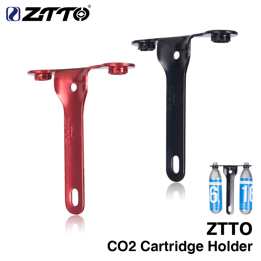 ZTTO CO2 Cartridge Holder Bracket Hold 2 X Control Blast CO2 Cartridges For Road Bike Water Bottle Cage Mount Bicycle Part