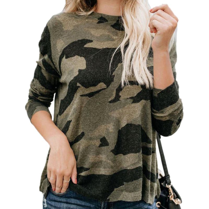 Women Ladies Oversized Loose Casual Camouflage Camo clothes Top Long Sleeve T Shirt Tops in T Shirts from Women 39 s Clothing