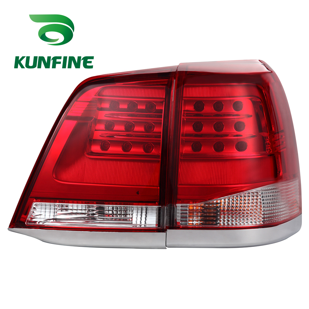 KUNFINE Pair Of Car Tail Light Assembly For TOYOTA LAND CRUSIER 2008-2016 Brake Light With Turning Signal Light yatour car adapter aux mp3 sd usb music cd changer 6 6pin connector for toyota corolla fj crusier fortuner hiace radios