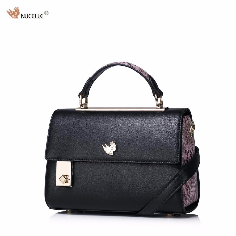 ФОТО New NUCELLE Brand Design Fashion Cow Leather Serpentine Lock Women Lady Handbag Shoulder Cross Body Flap Bags