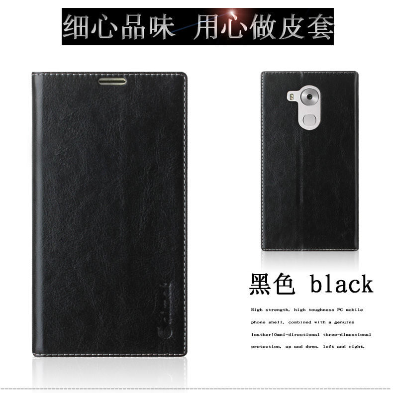 Aimak For Huawei Mate 8 Case Genuine Leather PU Leather With Card Type Back Cover For
