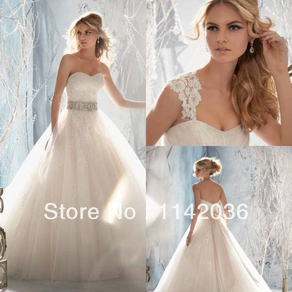 Free Shipping 2016 Spring Wedding Dresses Beaded Ribbon Bow Back Zipper On Removable Straps Beautiful Bridal Gowns In From Weddings