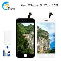 ET-Super 2 Cores 2 PCS Para iPhone6 além disso LCD Touch Screen Digitador Assembléia Completa + Vidro Temperado + Ferramenta Frete grátis