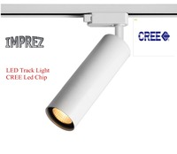 Alumínio CREE COB RA> 80 Levou Rastreamento Lâmpada Spot Light Rail Holofotes Teto Casa Moderna galeria de arte exposição da loja iluminação rail light store light spot rail -