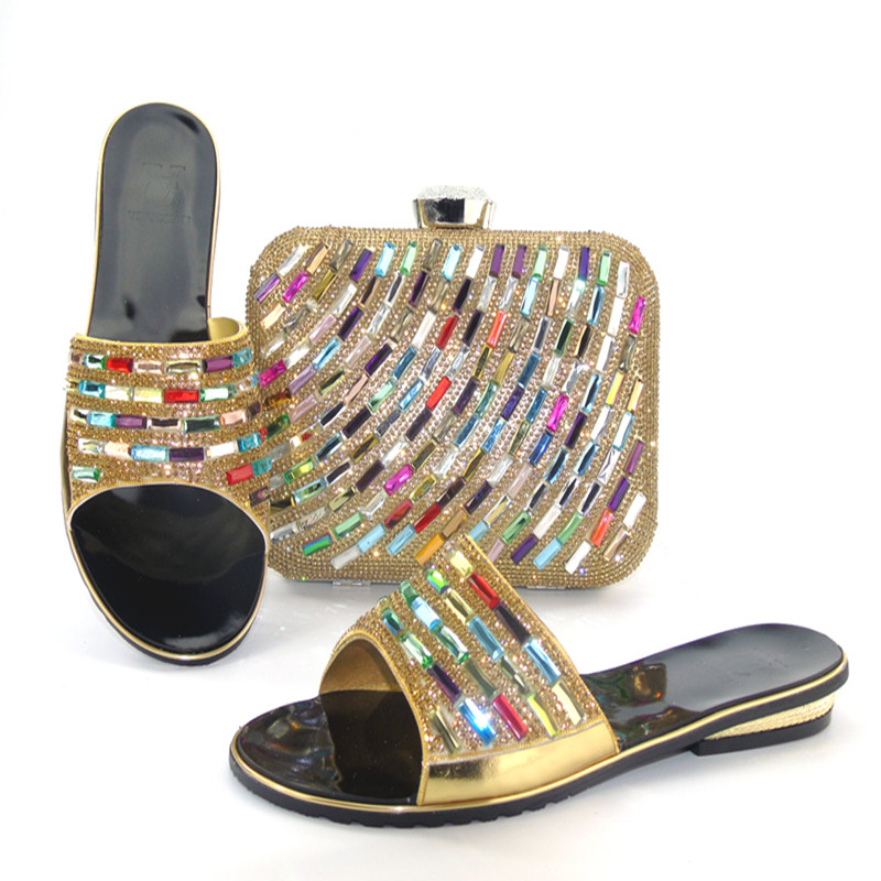 ФОТО New Fashion Italian Shoes with Matching bags For Party, High Quality african Shoes And Bags Set for Wedding shoe and bag  lu1-5
